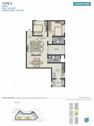 Sobha Palacia (2BHK+2T (1,347 sq ft) Apartment 1347 sq ft)
