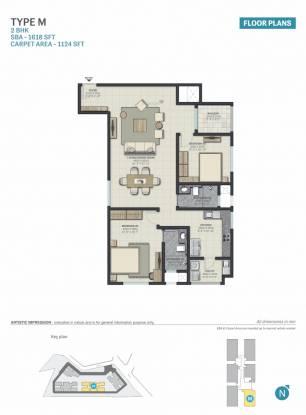 Sobha Palacia (2BHK+2T (1,618 sq ft) Apartment 1618 sq ft)
