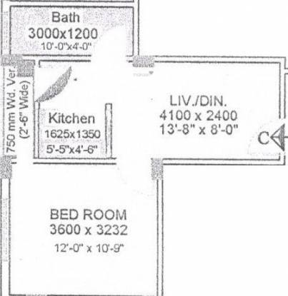 Sree Vinayak Plaza (1BHK+1T (451 sq ft) Apartment 451 sq ft)