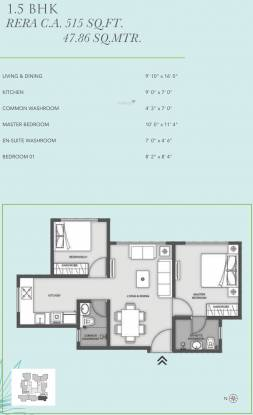 MICL Aaradhya Eastwind (1BHK+1T (515.16 sq ft) + Study Room Apartment 515.16 sq ft)