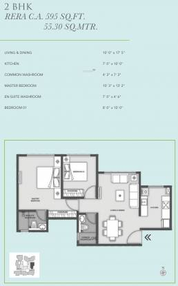 MICL Aaradhya Eastwind (2BHK+2T (595.24 sq ft) Apartment 595.24 sq ft)