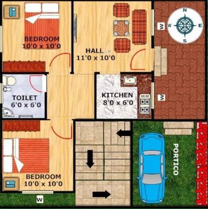 Greens Sai Greens City (2BHK+2T (630 sq ft) Villa 630 sq ft)