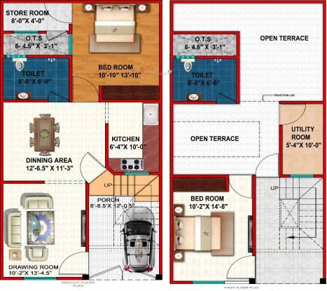 Grah Enclave Phase 3 (2BHK+2T (1,278.74 sq ft) Villa 1278.74 sq ft)