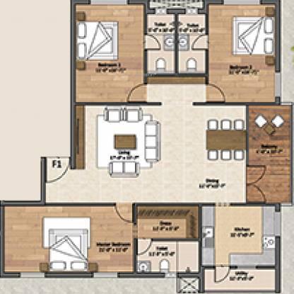 Sanbrix Elvira (3BHK+3T (2,220 sq ft) Apartment 2220 sq ft)
