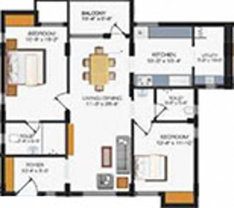 Sreevatsa Vedh (2BHK+2T (1,403 sq ft) Apartment 1403 sq ft)