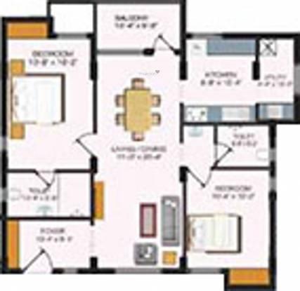 Sreevatsa Vedh (2BHK+2T (1,371 sq ft) Apartment 1371 sq ft)