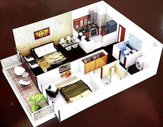 Abhiman Sahkari Awas Yojna (1BHK+1T (550 sq ft) Apartment 550 sq ft)
