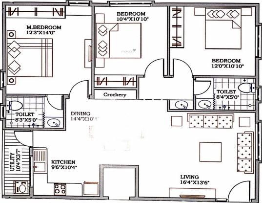 Lakshmi Nilayam (3BHK+2T (1,400 sq ft) Apartment 1400 sq ft)