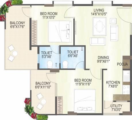 MS Ramayya Sri Yaduvamsi Anandadhamam (2BHK+2T (1,377 sq ft) Apartment 1377 sq ft)