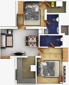 Chathamkulam Kadambari (2BHK+2T (782.3 sq ft) Apartment 782.3 sq ft)