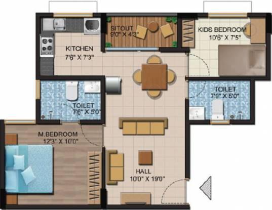 Shriram Liberty Square (2BHK+2T (860 sq ft) Apartment 860 sq ft)