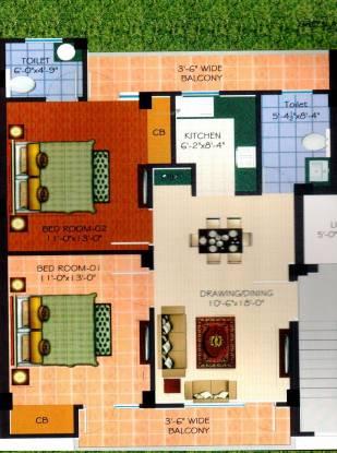 Hunny Tani Homes (2BHK+2T (950 sq ft) Apartment 950 sq ft)
