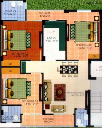 Hunny Tani Homes (3BHK+3T (1,450 sq ft) Apartment 1450 sq ft)