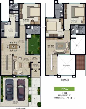 Sobha Verdure (3BHK+3T (2,217 sq ft) Villa 2217 sq ft)
