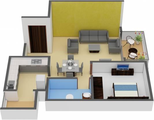 Godrej Zest At Godrej Eternity (1BHK+1T (712 sq ft) Apartment 712 sq ft)