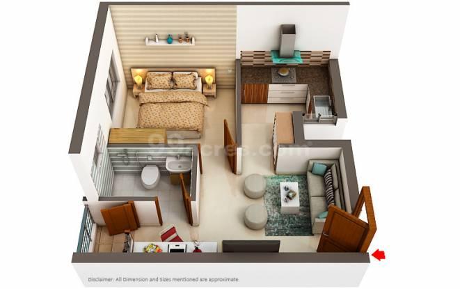Artha Neo Smart City (1BHK+1T (509 sq ft) Apartment 509 sq ft)