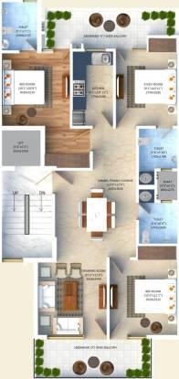 Vishesh Floors (3BHK+3T (1,550 sq ft) Apartment 1550 sq ft)