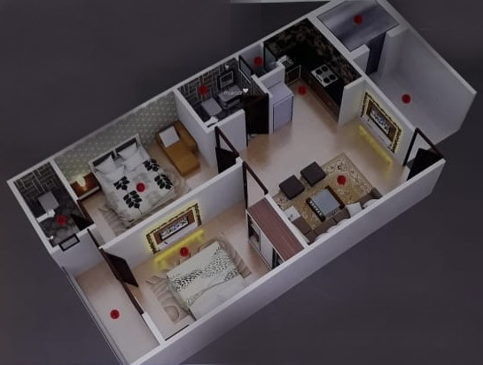 Milan Homes (2BHK+2T (650 sq ft) Apartment 650 sq ft)