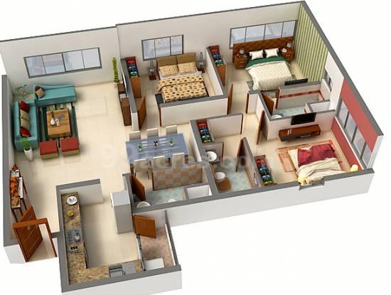 Urbana Apartment (3BHK+3T (1,832.99 sq ft) Apartment 1832.99 sq ft)