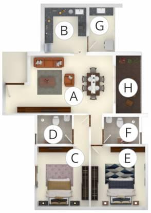 Developers Mathrusris Sai Sanvi Grandeur (2BHK+2T (1,190 sq ft) Apartment 1190 sq ft)