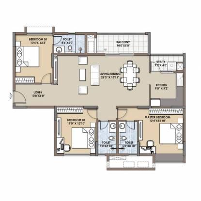 A andA ASSOCIATES Test Project Child 1 (3BHK+3T (1,000 sq ft) + Study Room Villa 1000 sq ft)