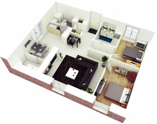 Jagdamba Homes (2BHK+2T (650 sq ft) Apartment 650 sq ft)