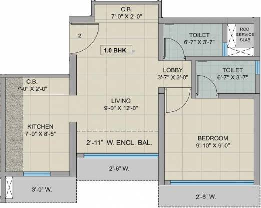 Man Opus (1BHK+1T (463 sq ft) Apartment 463 sq ft)