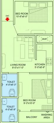 Sh JMD Delhi In Apartment 2 (2BHK+2T (540 sq ft) Apartment 540 sq ft)
