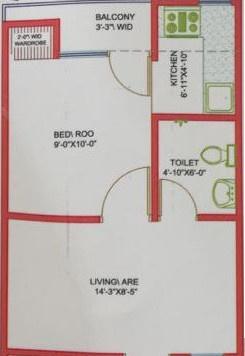 Khurana Smart Homes (1BHK+1T (400 sq ft) Apartment 400 sq ft)