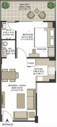 Santur Silver Springs (1BHK+1T (674 sq ft) Apartment 674 sq ft)
