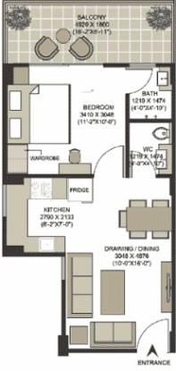 Santur Silver Springs (1BHK+1T (650 sq ft) Apartment 650 sq ft)