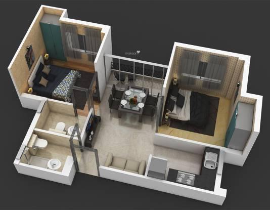 Dharitri Webcity (2BHK+2T (650 sq ft) Apartment 650 sq ft)