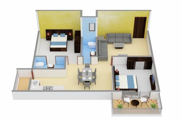 Adithya Lujoso (2BHK+2T (1,100 sq ft) Apartment 1100 sq ft)