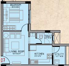 Aashirwad Dvaraka Enclave (1BHK+1T (530 sq ft) Apartment 530 sq ft)