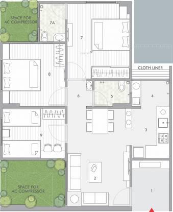 Rajyash Rajyash Reeva (3BHK+2T (700 sq ft) Apartment 700 sq ft)