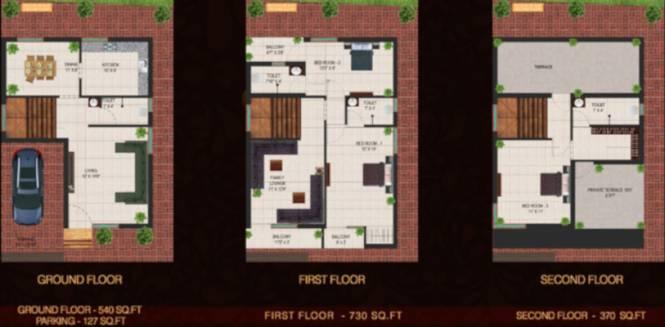 Ubiqon Soleil Villa (3BHK+3T (1,767 sq ft) Villa 1767 sq ft)