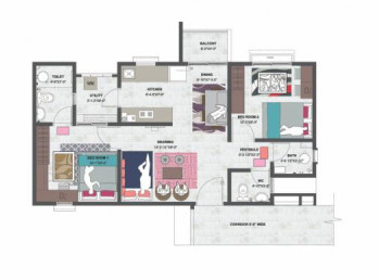 Mahima Mahimas Shubh Nilay Phase I (2BHK+2T (515.27 sq ft) Apartment 515.27 sq ft)