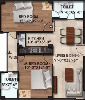 Shree Apartment (2BHK+2T (900 sq ft) Apartment 900 sq ft)