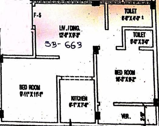 Balaji Pushpanjali Abasan (2BHK+2T (663 sq ft) Apartment 663 sq ft)