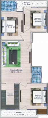 Globe Home Part 2 (3BHK+2T (900 sq ft) Apartment 900 sq ft)