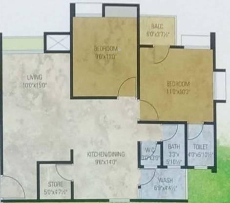 Rajubhai Ravajibhai Desai Siddhi Vinayak Green (2BHK+2T (675.33 sq ft) Apartment 675.33 sq ft)