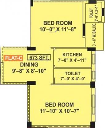 Sreedeep Villa (2BHK+2T (673 sq ft) Apartment 673 sq ft)