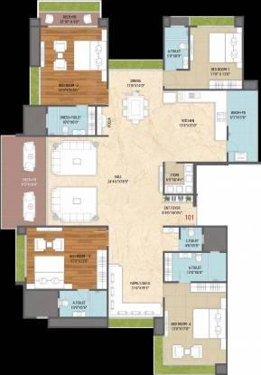 M J Lotus Heart (4BHK+5T (2,317.47 sq ft) Apartment 2317.47 sq ft)