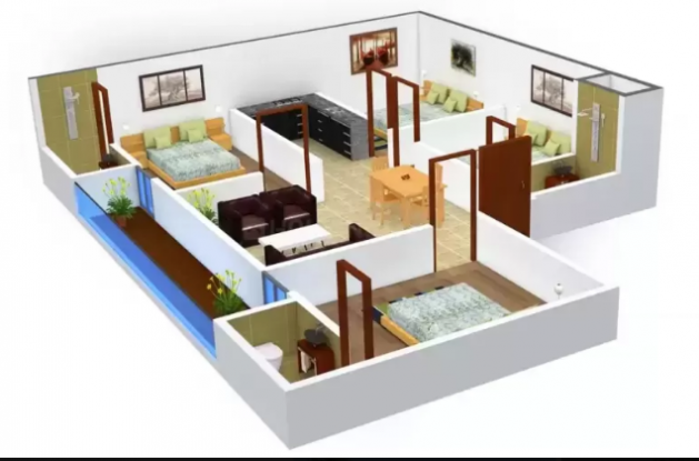 Greenwood Homes 3 (4BHK+3T (1,125 sq ft) Apartment 1125 sq ft)