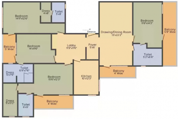 Whitehousz Floors 3 (4BHK+4T (2,000 sq ft) Apartment 2000 sq ft)