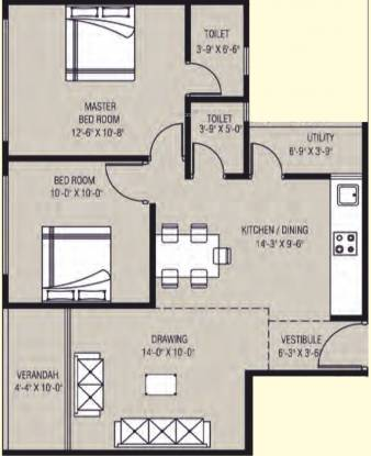 Arham Shasvat (2BHK+2T (634.10 sq ft) Apartment 634.1 sq ft)