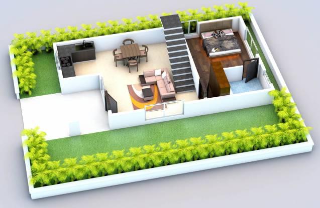 Ridhi Green Palms (2BHK+2T (972 sq ft) Villa 972 sq ft)