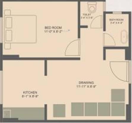 Om Omshanti Raj Niwas (1BHK+1T (312.48 sq ft) Apartment 312.48 sq ft)