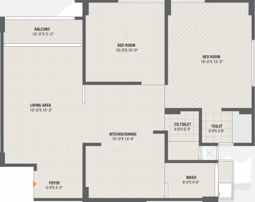 Rang Seattle Sky (2BHK+2T (613.44 sq ft) Apartment 613.44 sq ft)