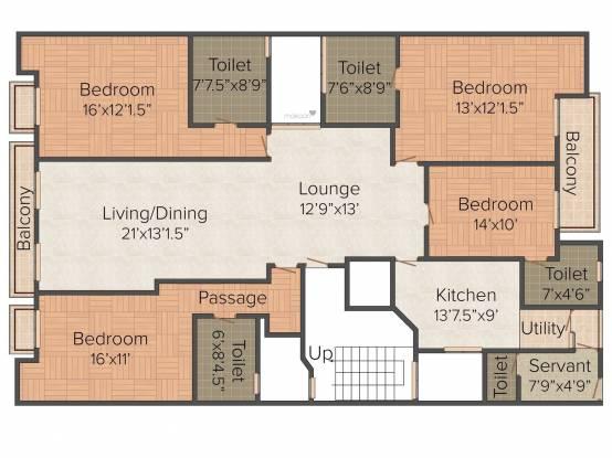 Navgrow Home 1 (3BHK+3T (2,160 sq ft) Apartment 2160 sq ft)